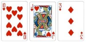 Value 3 Kombinasi dari 3 kartu dengan total jumlah kartu adalah 3