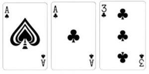 Value 5 Kombinasi dari 3 kartu dengan total jumlah kartu adalah 5