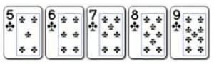 2 Straight Flush Susunan 5 kartu yang berurutan dengan lambang yang sama