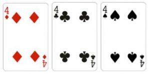 Value 2 Kombinasi dari 3 kartu dengan total jumlah kartu adalah 2
