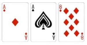Super Ten Kombinasi dari 3 kartu dengan total jumlah adalah 10