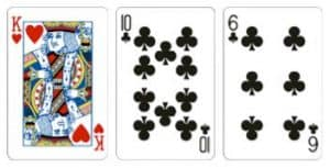 Value 6 Kombinasi dari 3 kartu dengan total jumlah kartu adalah 6