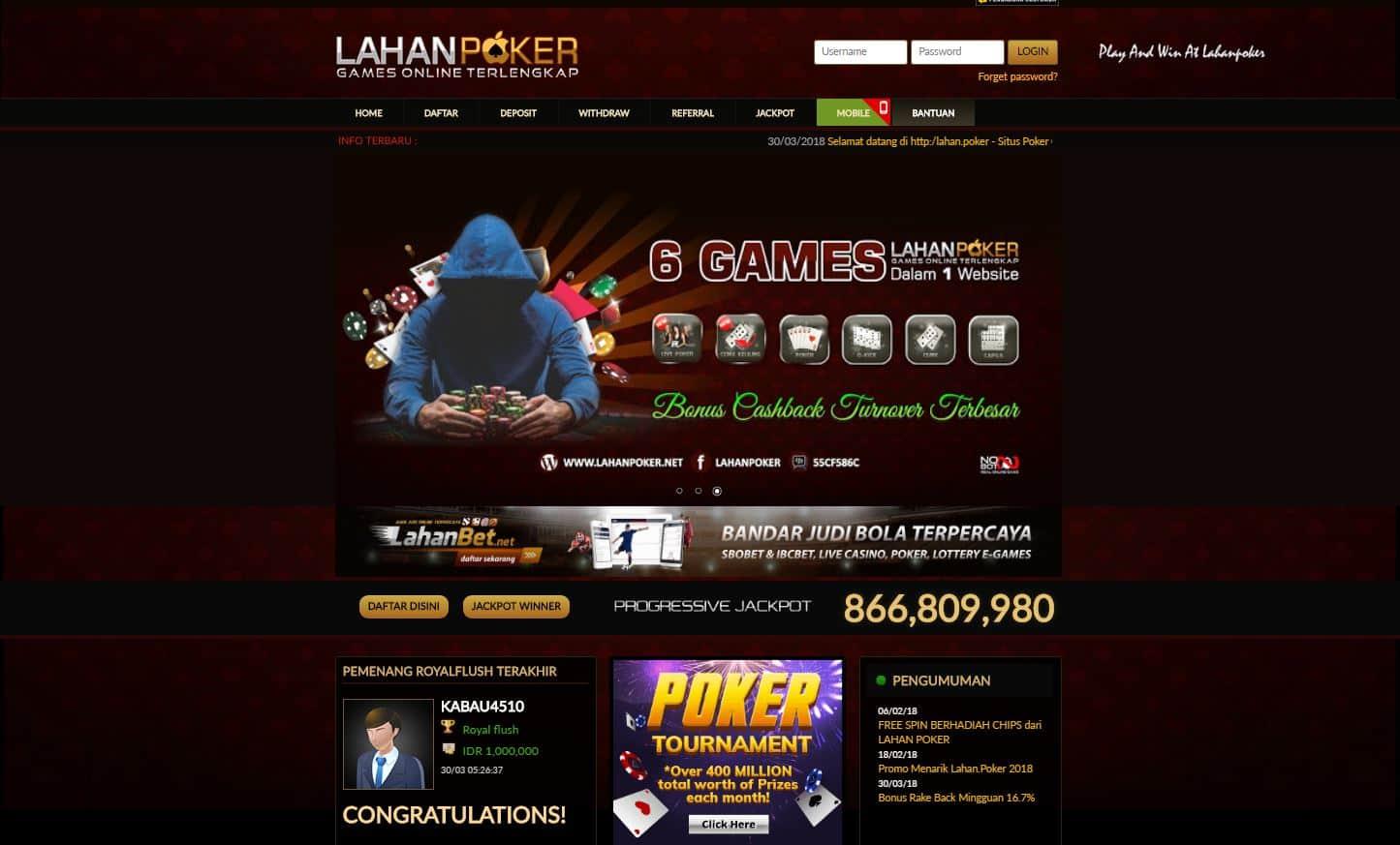 Link Alternatif Link Alternatif Lahan Poker Agen Judi Rupiah Terbaik